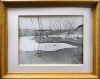 #76 - Framed Print of Marsh in Winter